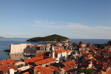 Dubrovnik - an old city on the Adriatic Sea