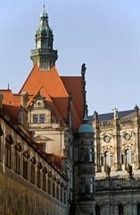 Die Augustusstraße mit dem Fürstenzug in Dresden