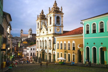 Photo sur Aluminium Brésil rosario dos pretos church in salvador of bahia