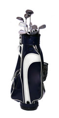 Black and White Golf Clubs Bag