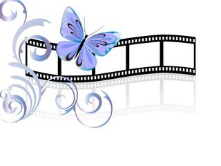 Floraler Filmstreifen