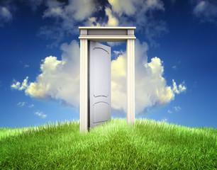 abriendo puerta