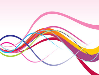 abstract colorful rainbow line wave