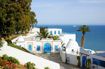 Canvas Prints Tunisia village de sidi bou said