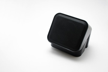 Small mini cube speaker view.