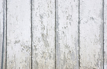 White peeling paint on exterior siding