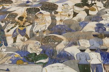 painting, Ban Yang, Borabue, Mahasarakam,