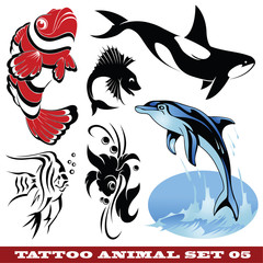 Templates Fish for tattoo and design