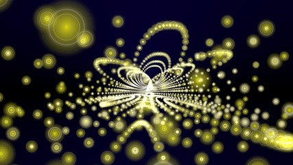 yellow matrix halo universe background - hdtv format