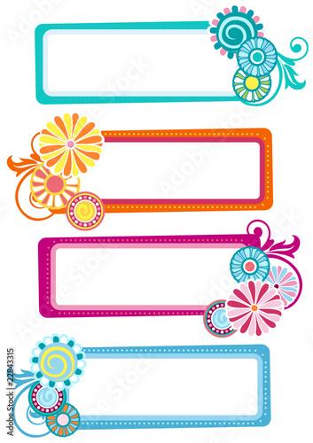 28d104d89856c etiquetas horizontales con flores de colores