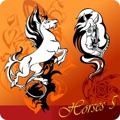 Flaming Horses.