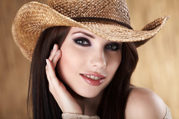 Portrait of a Beautiful Country Woman