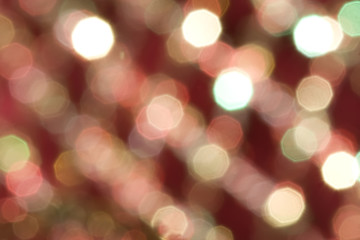 Red and white bokeh background