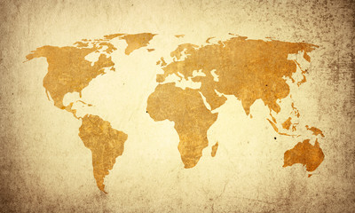 world map vintage artwork=