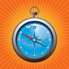 blue compass orange starburst