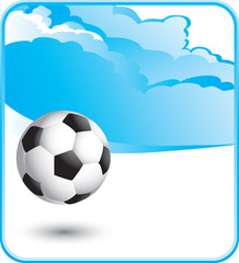 soccer ball cloud background