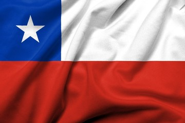 3D Flag of Chile satin