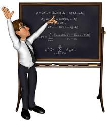 3d teacher teaching cartoon
