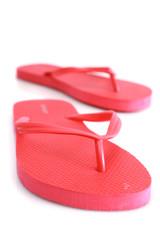 Red sandal beach
