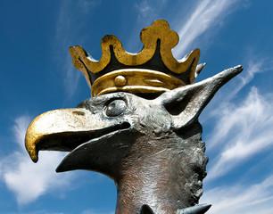 Tête de griffon portant une couronne à Malmö en Suède