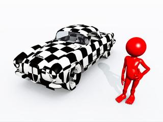 Figur mit Auto