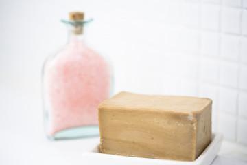 石鹸とバスソルト
