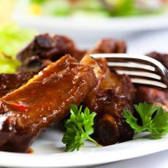 Pork ribs with sweet sauce