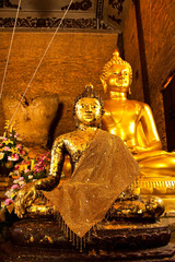 Lord Buddha cover with gold leaf