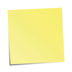 Yellow sticky note - vector illustration