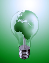 World energy issues concept illustration