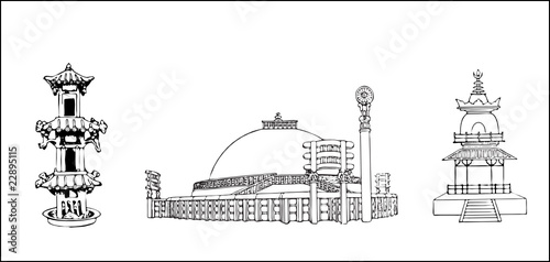 Chinese Buildings Stock Image And Royalty Free Vector Files On