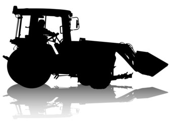 Wall Mural - Tractor work