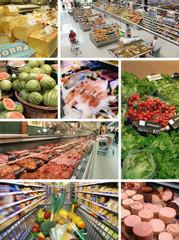 Supermarkt-Collage