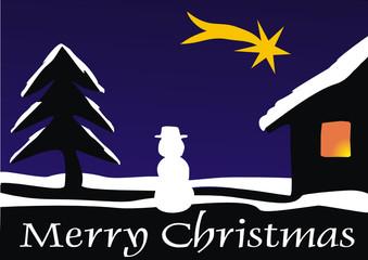 winterbild merry christmas