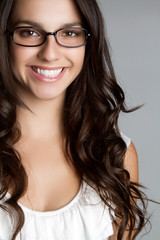 Smiling Glasses Woman