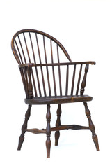 Windsor antique wood chair isolated