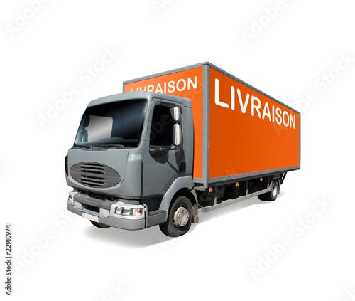 camion de livraison photo libre de droits sur la banque d 39 images image 22910974. Black Bedroom Furniture Sets. Home Design Ideas