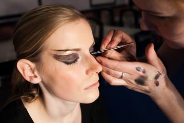 backstage of make up making