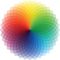 Poster de jardin Psychedelique Rainbow