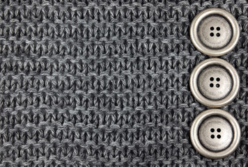 Knitted Fabric and buttons