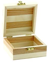 boîte, coffret, bois, fond blanc