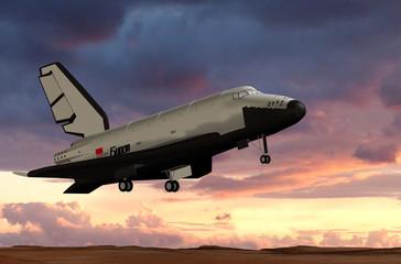 Shuttle BURAN im Landeanflug
