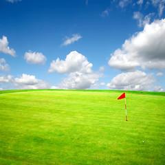 Summer golf field