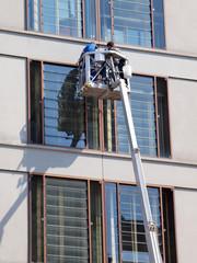 Fenster Putzer Hebebühne