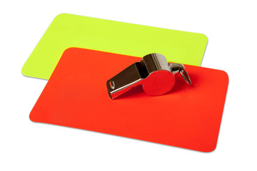 referee utensils with hand made clipping path