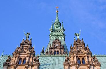 Hamburg: Türme des Rathauses