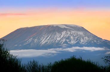 Sunrise on mount Kilimanjaro Wall mural