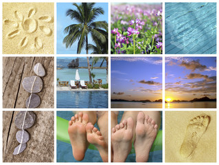 Mosaïque vacances d'été