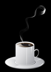 Cup of coffee and smoke