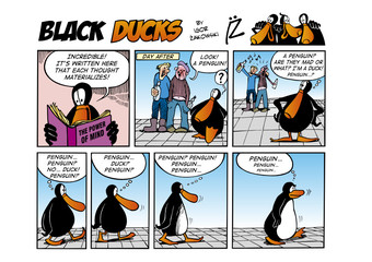 Fotorolgordijn Comics Black Ducks Comic Strip episode 44